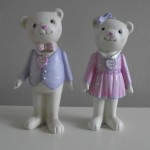 Teddy Bear Ornament Wedding / Baby Gift