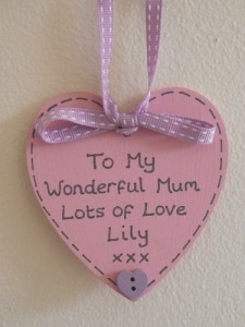 Personalised Teddy Bear Message in Heart