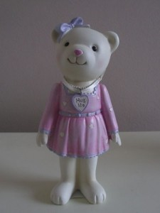 Teddy Bear Ornament Girl
