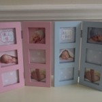 Multi Aperture Baby Photo Frame in Pink and Blue