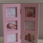 Multi Aperture Baby Photo Frame Pink