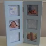 Multi Aperture Baby Photo Frame Blue