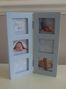 Multi Aperture Baby Photo Frame Blue