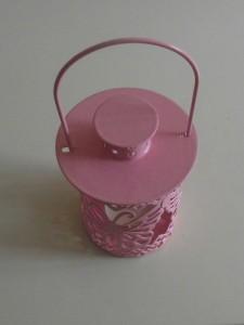 Pink Tealight Hanging Garden Lantern