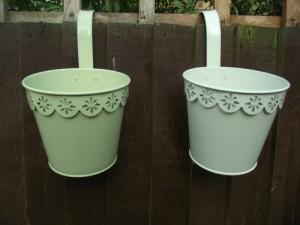 Vintage Style Metal Plant Pots