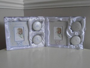 new baby photo frame gift set