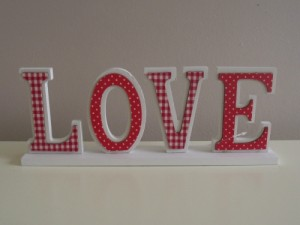Shabby Chic Wooden Love Sign
