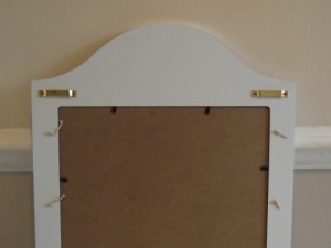Shabby Chic Memo Board Rear
