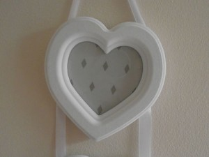 Shabby Chic Triple Heart Photo Frame