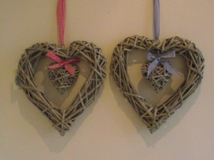 Shabby Chic Willow Hearts