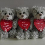 Personalised Valentine Teddy Bear
