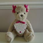 Bridesmaid Flower Girl Teddy with Colour Options
